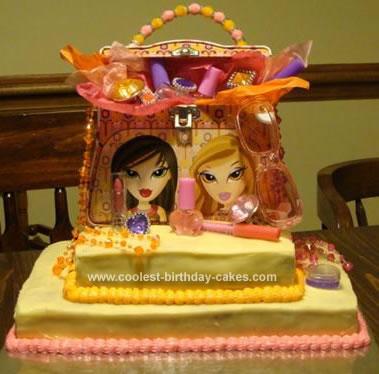 Homemade Bratz  Birthday Cake