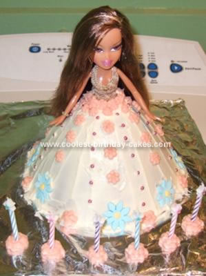Homemade Bratz Doll Birthday Cake