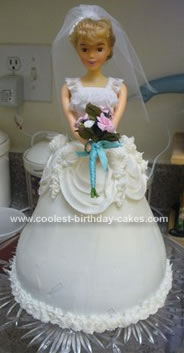Homemade Bridal Barbie Doll Cake