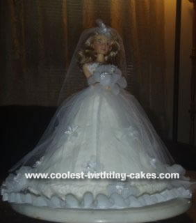 Coolest Bridal Doll Cake