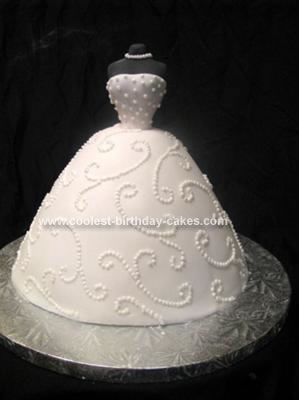 Homemade Bridal Dress Cake