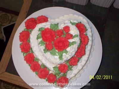 Homemade Bridal Shower Cake Design