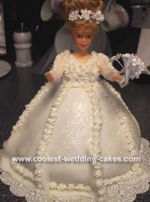 Homemade Bridal Shower Doll Cake