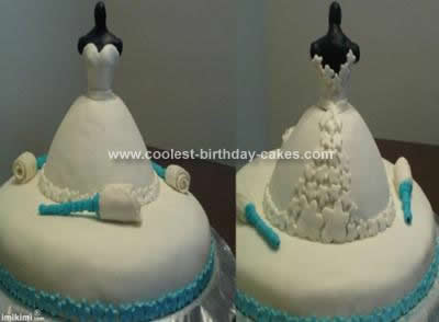 Coolest Bridal Shower Dress Cake