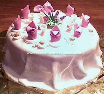 Coolest Bridal Shower Table Cake