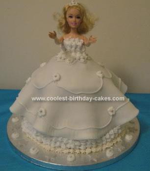 Homemade Bride Barbie Doll Cake