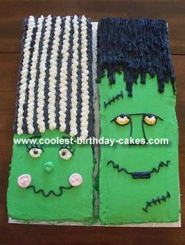 Bride of Frankenstein Cake