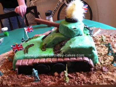 Homemade British Army Tank Cake