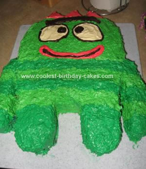 Homemade Brobbie Birthday Cake from Yo Gabba Gabba