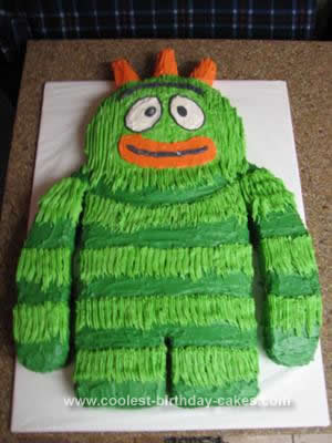 Homemade Brobee 3rd Birthday Cake
