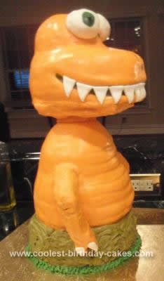 Homemade Buddy the T-Rex  Cake