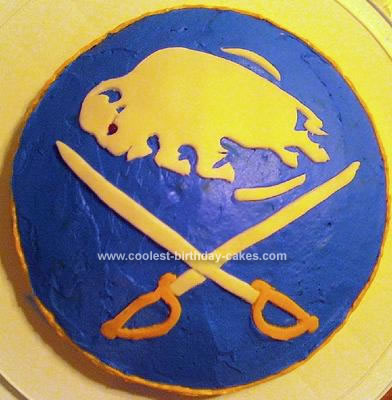Homemade Buffalo Sabres Cake