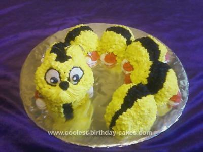 Homemade Bug Birthday Cake