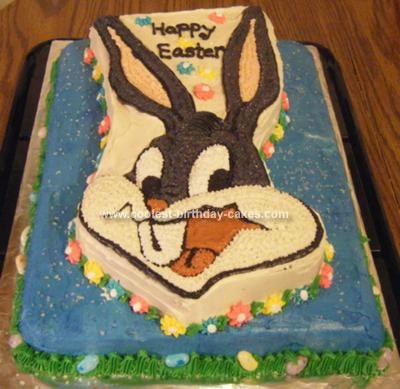 Homemade Bugs Bunny Cake