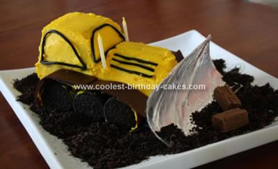 Homemade Bulldozer Cake