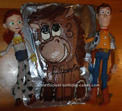 Homemade Bullseye the Toy Story Horse Cake