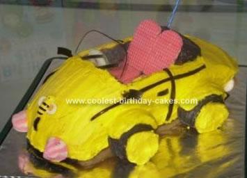 Homemade Bumble Bee Car Cake
