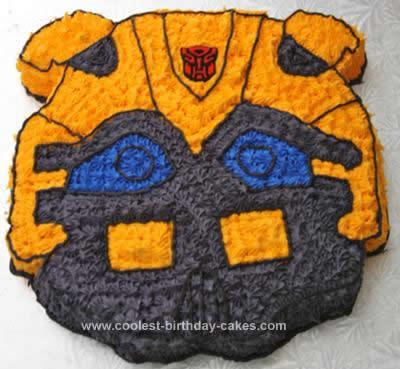 Homemade Bumblebee Birthday Cake