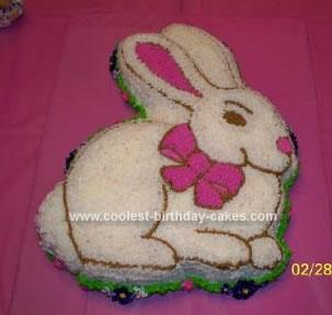 Homemade Bunny Cake