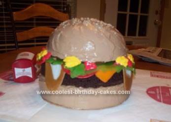 Homemade Burger Birthday Cake