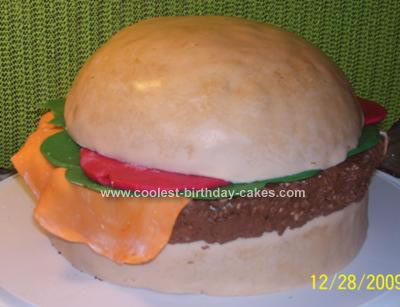 Homemade Burger Cake