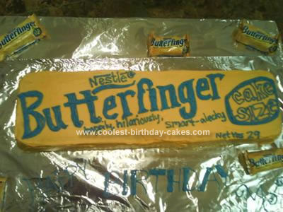 Homemade Butterfinger Cake