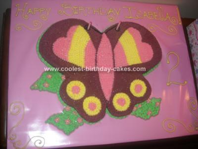 Homemade Butterfly Birthday Cake Design