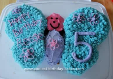 Homemade Butterfly Birthday Cake Idea