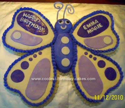 Homemade Butterfly Birthday Cake Idea
