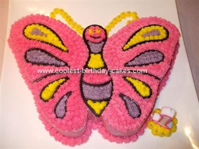 Butterfly Birthday Cake on Butterfly Cake