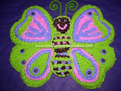 Homemade Butterfly Cake