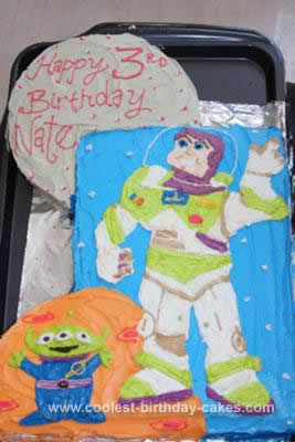 Homemade Buzz Light Year Cake Design