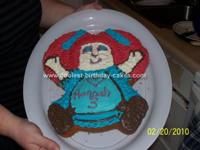 Homemade Cabbage Patch Doll Cake