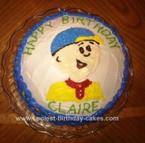 Homemade Caillou Birthday Cake