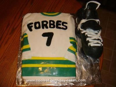 Homemade Cake for Hockey Fan