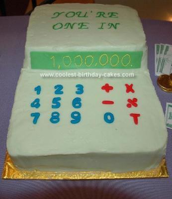 Homemade Calculator Cake