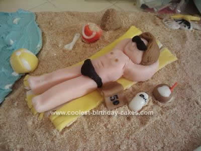 Homemade California Beach Cake