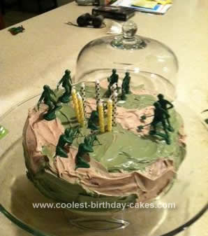 Homemade Camo Birthday Cake