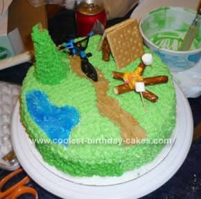 Homemade Campfire Cake Idea