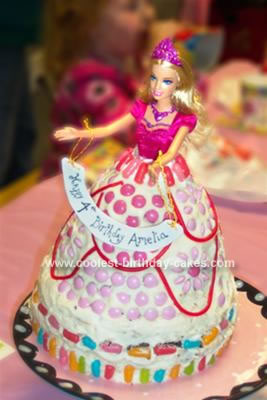 Homemade Candy Barbie Princess Cake