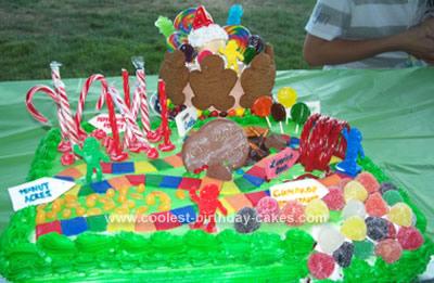 Homemade Candyland Birthday Cake