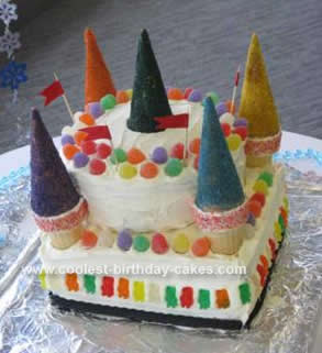 Homemade Candyland Castle Cake