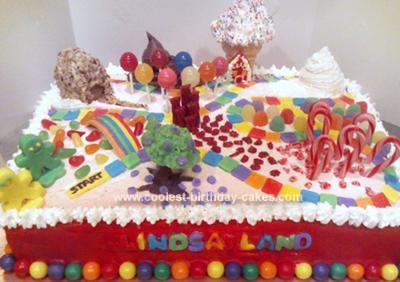 Homemade Candyland Game Cake
