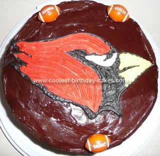 Homemade Big Red Cardianls Cake