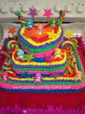 Rainbow Birthday Cake on Coolest Care Bear Rainbow Cake 42