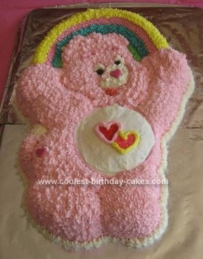 Homemade Care Bears Birthday Cake