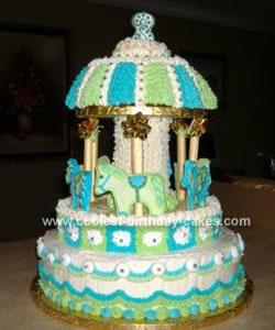 Homemade Carousel Birthday Cake