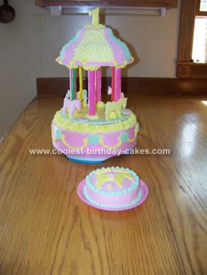 Homemade Carousel Birthday Cake