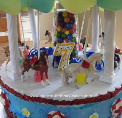 how to make a carousel birthday cake