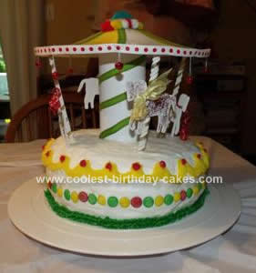 Homemade Carousel Cake Design